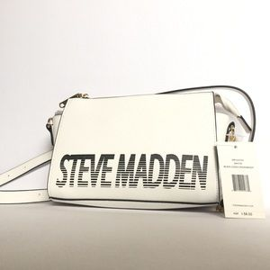 Steve Madden White Black Blexi Crossbody Bag NWT